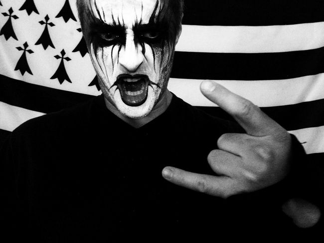 Blackmetal Darkness Halloween Halloween Costumes Mask Metal Painted Face Rocknroll Scream Shout