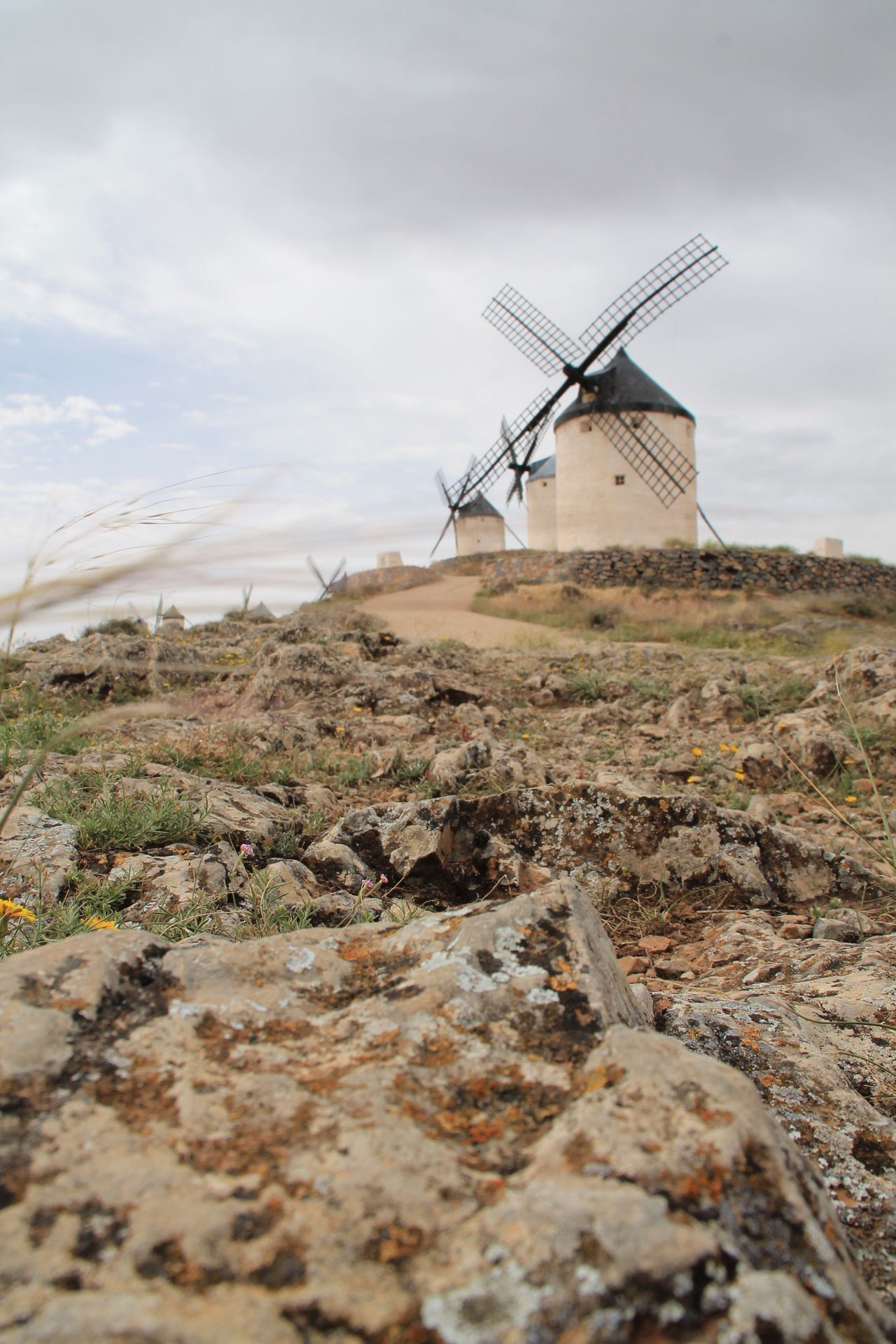 Windmill Sky Cloud - Sky Wind Power Day Field Outdoors Traditional Windmill Landscape Nature No People Molinos La Mancha Don Quijote Enjoying Life Check This Out Hanging Out Taking Photos Travel Destinations Built Structure Windmill Consuegra Rural Scene Architecture Beauty In Nature