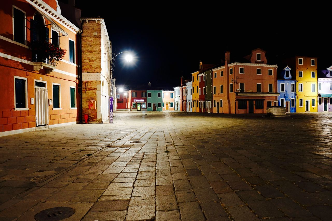 Architecture Building Exterior City Cobblestone Illuminated New Talent This Week New Talents Night No People Outdoors Sky Street