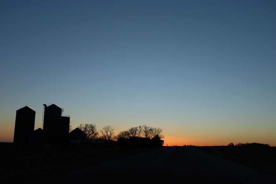 Visual Journal March 2017 Southeast Nebraska A Day In The Life America Architecture Beauty In Nature Building Exterior Built Structure Dusk Colours Dusk In The Country Dusk Sky EyeEm Best Edits EyeEm Best Shots EyeEm Gallery Farmland Fujifilm_xseries Getty Images Grain Silos No People Photo Diary Rural Landscape Rural Scenes Silhouette Sunset Sunset Silhouettes Sunset_collection Visual Journal