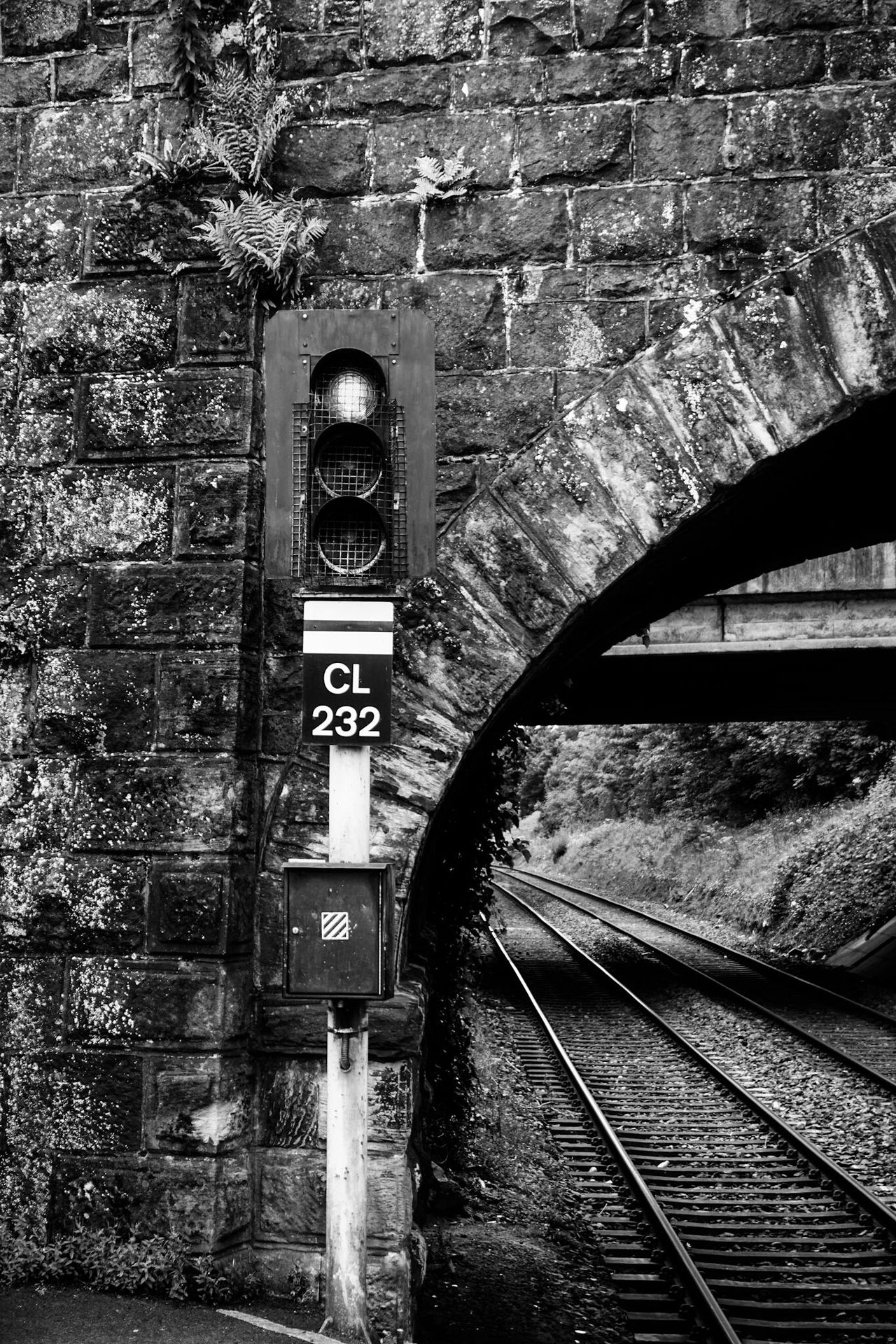 Public Transportation Railway Track Bridge Traffic Light  Waiting For A Train Train Station Blackandwhite Black & White Black And White