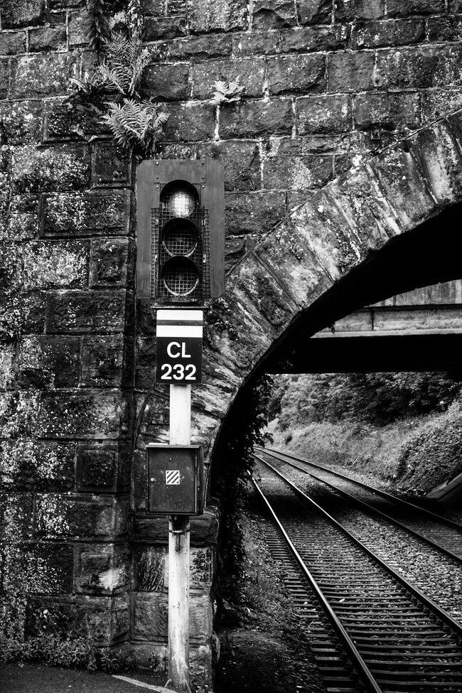 Public Transportation Railway Track Bridge Traffic Light  Waiting For A Train Train Station Blackandwhite Black & White Black And White