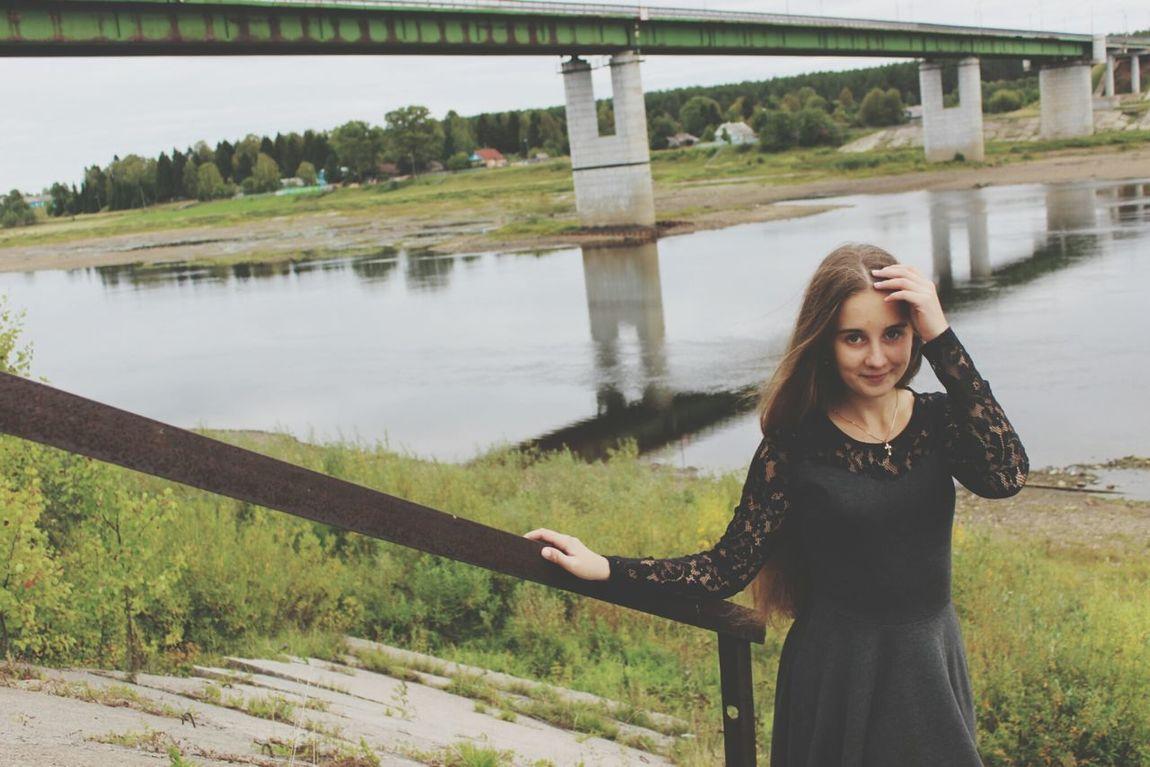 Autumn River Girl Nature