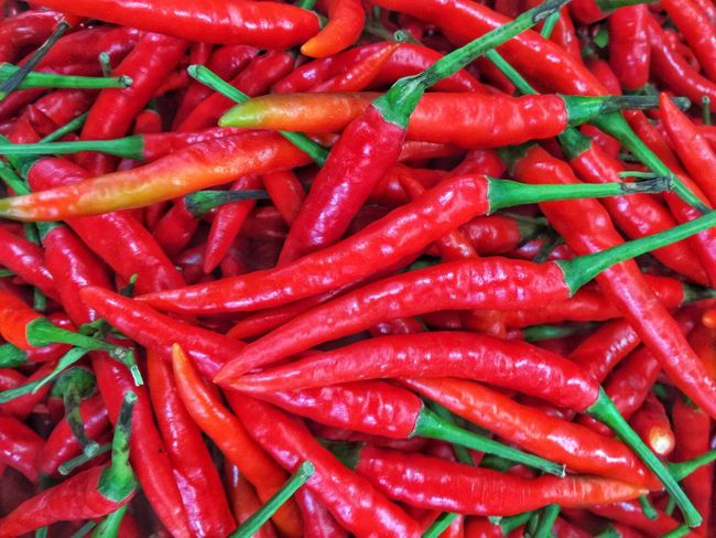 Spice Red Food And Drink Food Abundance Vegetable Freshness Full Frame Backgrounds Market No People Day Healthy Eating Outdoors Nature Close-up Chili  Hot Ripe