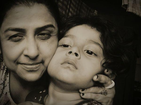 My mom with my nephew First Eyeem Photo