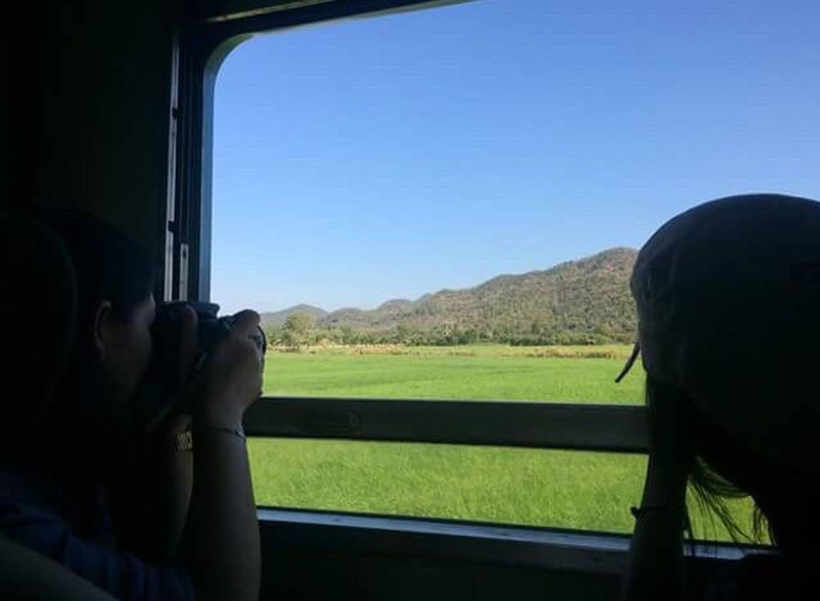 In My Eyes... Two People #ontrain Nature