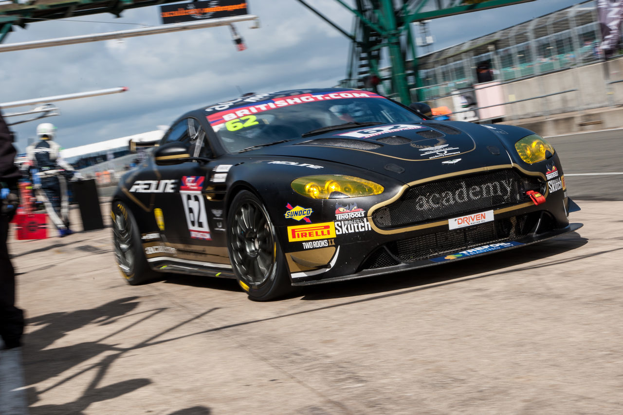 Academy Motorsport Aston Martin British Gt Colour Day Gt4 Pit Lane Racing Silverstone