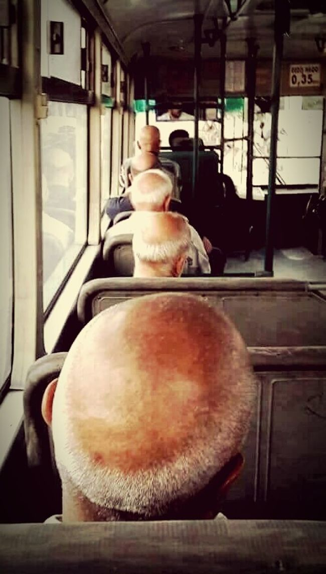 People Funny Shaved Heads Old Age