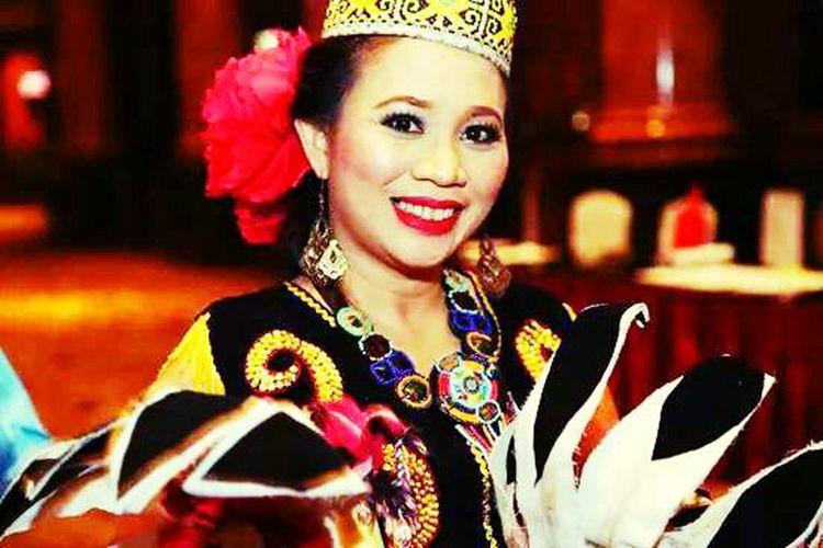Orang ulu costume. Borneo people Lifestyles Portrait Beautiful People