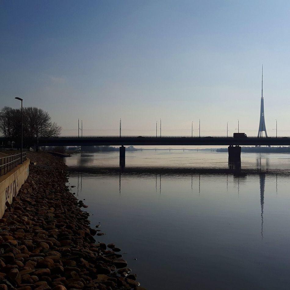 River scape City River View Riverside Bridge TV Tower Cityscape Embankment CityWalk