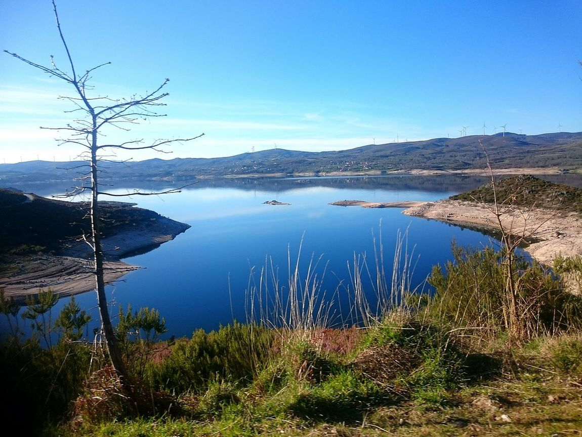 Visit PortugalThe Great Outdoors - 2017 EyeEm Awards Lake Water Nature Reflection Landscape Scenics Outdoors Beauty In Nature Tranquility No People Sky Mountain Clear Sky Day Tree Montalegre Portugal Vilarinho De Negrões Village Paradise Paradise On Earth The Week On EyeEm
