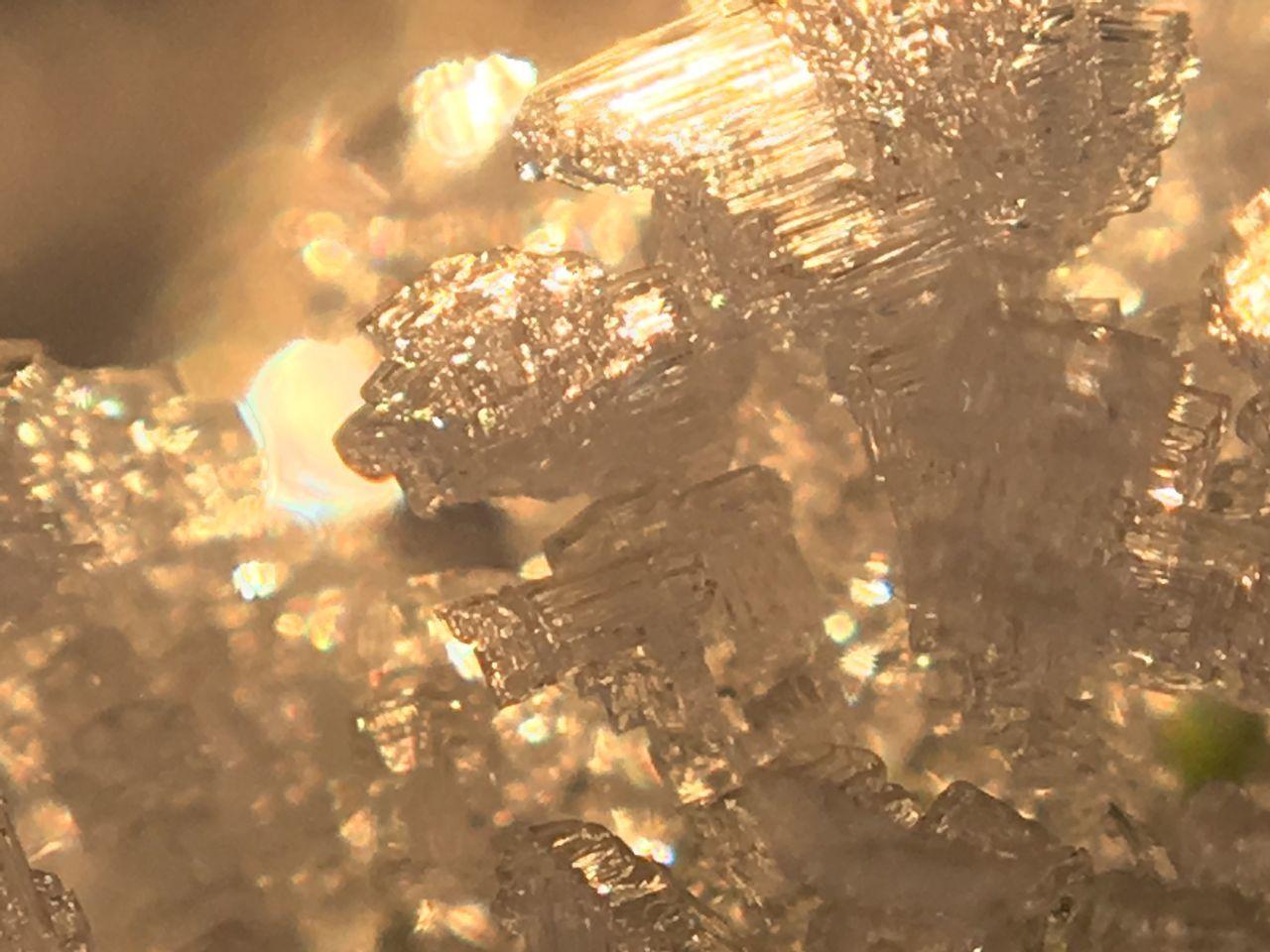 Ice Macro Outdoors Nature Eiskristalle