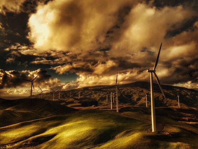 Alternative Energy Fuel And Power Generation Wind Power Wind Turbine Environmental Conservation Renewable Energy Sky Windmill No People Cloud - Sky Nature Industrial Windmill Field Landscape Outdoors Beauty In Nature Tranquil Scene Rural Scene Scenics Technology