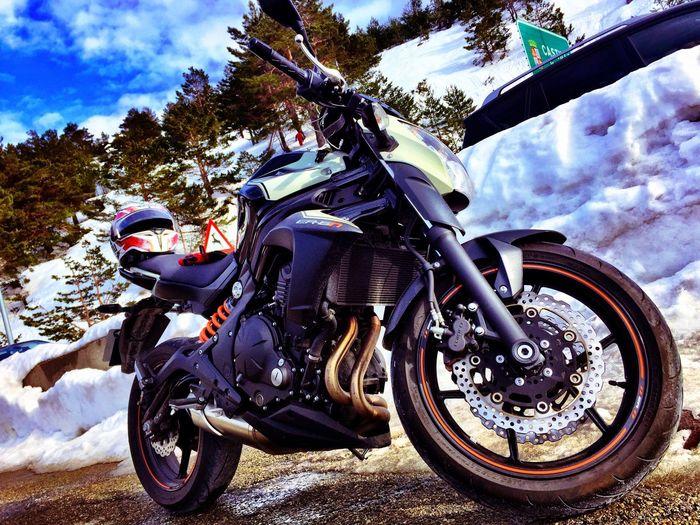 Navacerrada Motorcycle Extreme Sports Cloud - Sky Snow ❄ Mountain