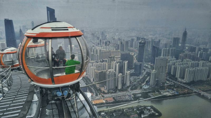 Top of Canton Tower overlooking thencity of Guangzhou. Canton Tower Guangzhou China Layovers Travel Photography Wanderlust Heights The Architect - 2017 EyeEm Awards