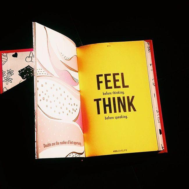 FEEL before thinking. THINK before speaking ✌ VSCO Vscocam Kamerahpgw Khgw mataponsel mp_jatim mp_5 instalike instapic instagood instanesia livetolearn lovelife