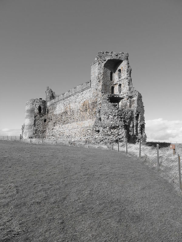 Tantallon Castle Framing Leading Lines Contrast Scotland Outdoors History Landscape Castle Black And White