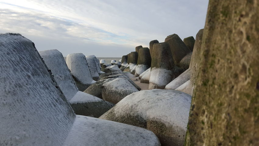 EyeEm Selects Sylt Cloud - Sky Outdoors Nature Beach No People Sky Day Tetrapods