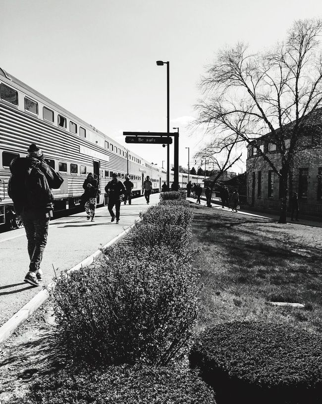 Streetphotography Train Station People Walking  Getting Out Getting Out Of The Train Cold Spring Cold Temperature Feel The Journey Original Experiences
