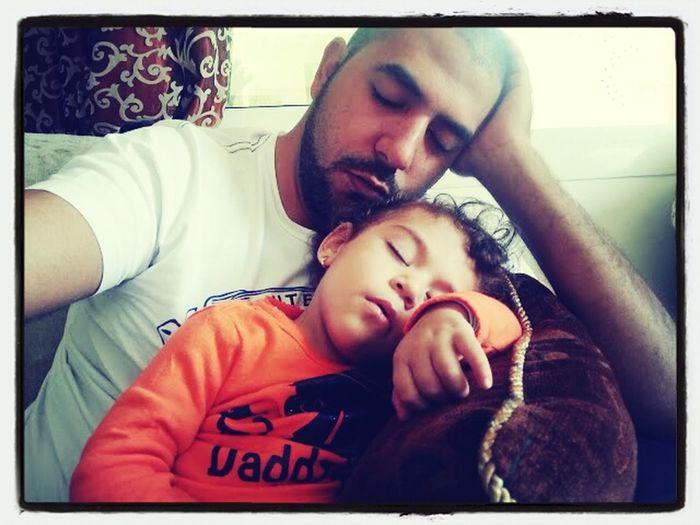Babygirl Uncle Lovely Sleeping