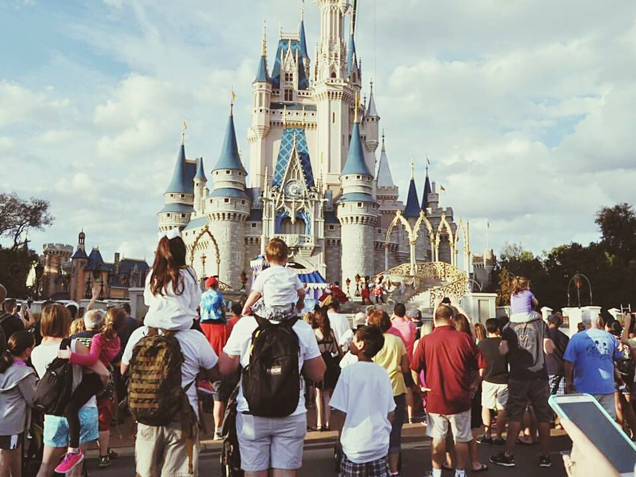Travel Destinations DisneyWorld Tourism Large Group Of People Built Structure Architecture Tourist People Unity EyeEmNewHere Travel Cinderella Vacation Adapted To The City
