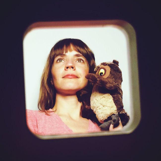 Portrait mit Eule Owl Shooting That's Me Stuffed Animals