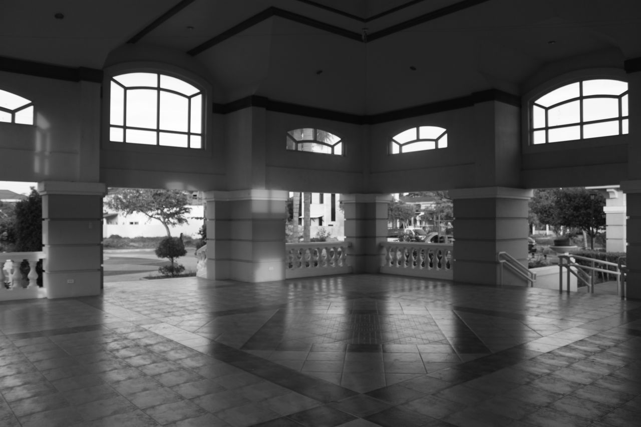 Interior Architectural Column Architecture Architecture Black And White Building Built Structure Clubhouse Column Corridor Davao Design Empty Flooring Interior Lobby No People Philippines The Architect - 20I6 EyeEm Awards