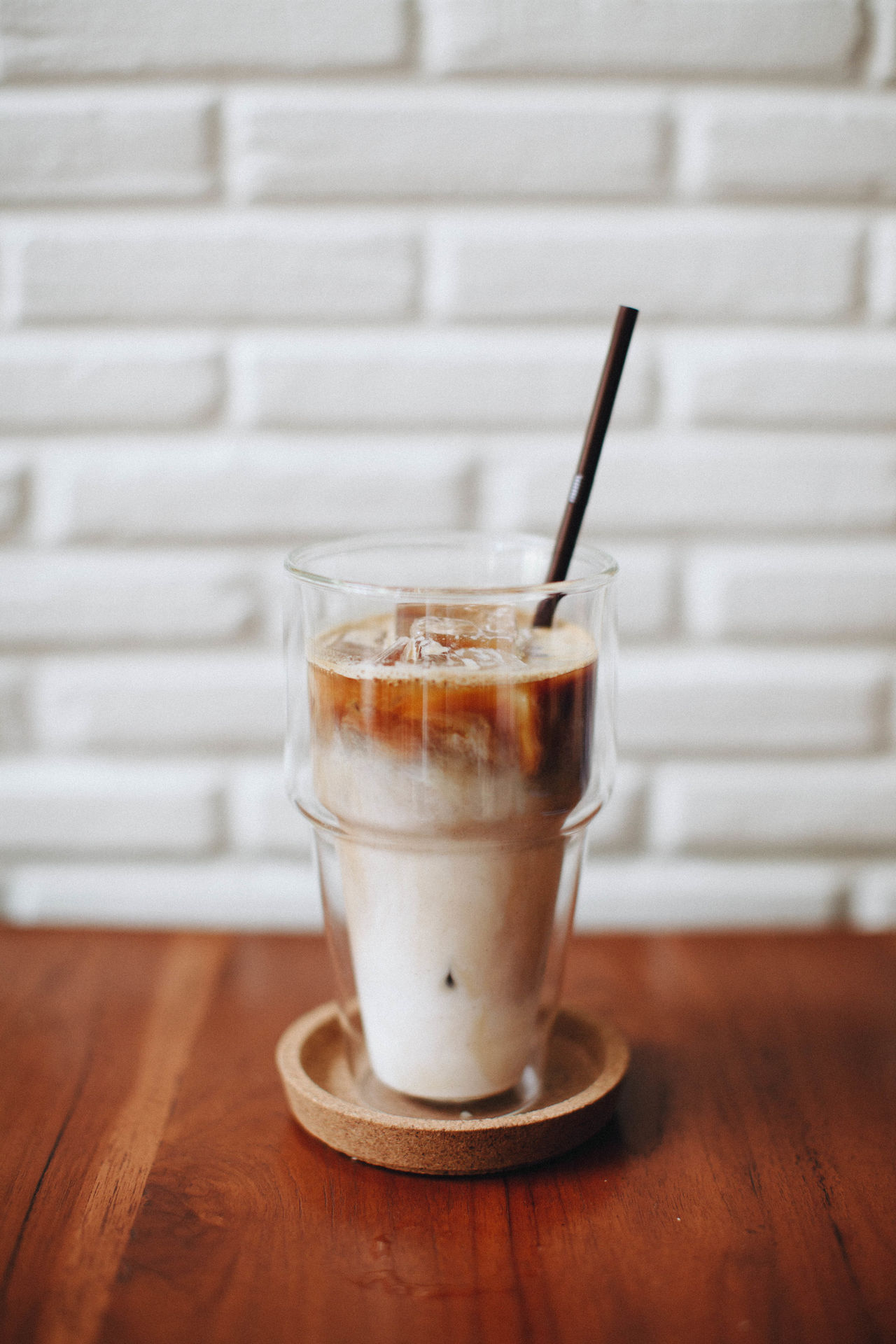 Close-up Coffee Day Drink Drinking Glass Drinking Straw Espresso Food And Drink Freshness Indoors  Latte Latte No People Refreshment Table
