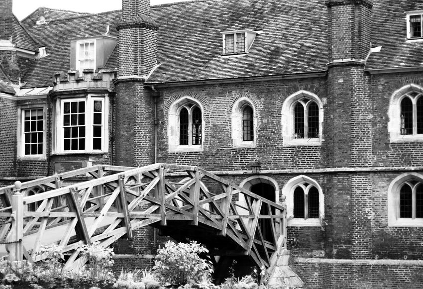 mathematikerbrücke Adobe Architecture Blackandwhite Brick Wall Bridge Building Building Exterior Built Structure Cambridge Canon Canonphotography Day History Architecture No People Old Buildings Outdoors Plant Scenics Tranquility Travel Destinations Travel Photography University University Campus Window Windows