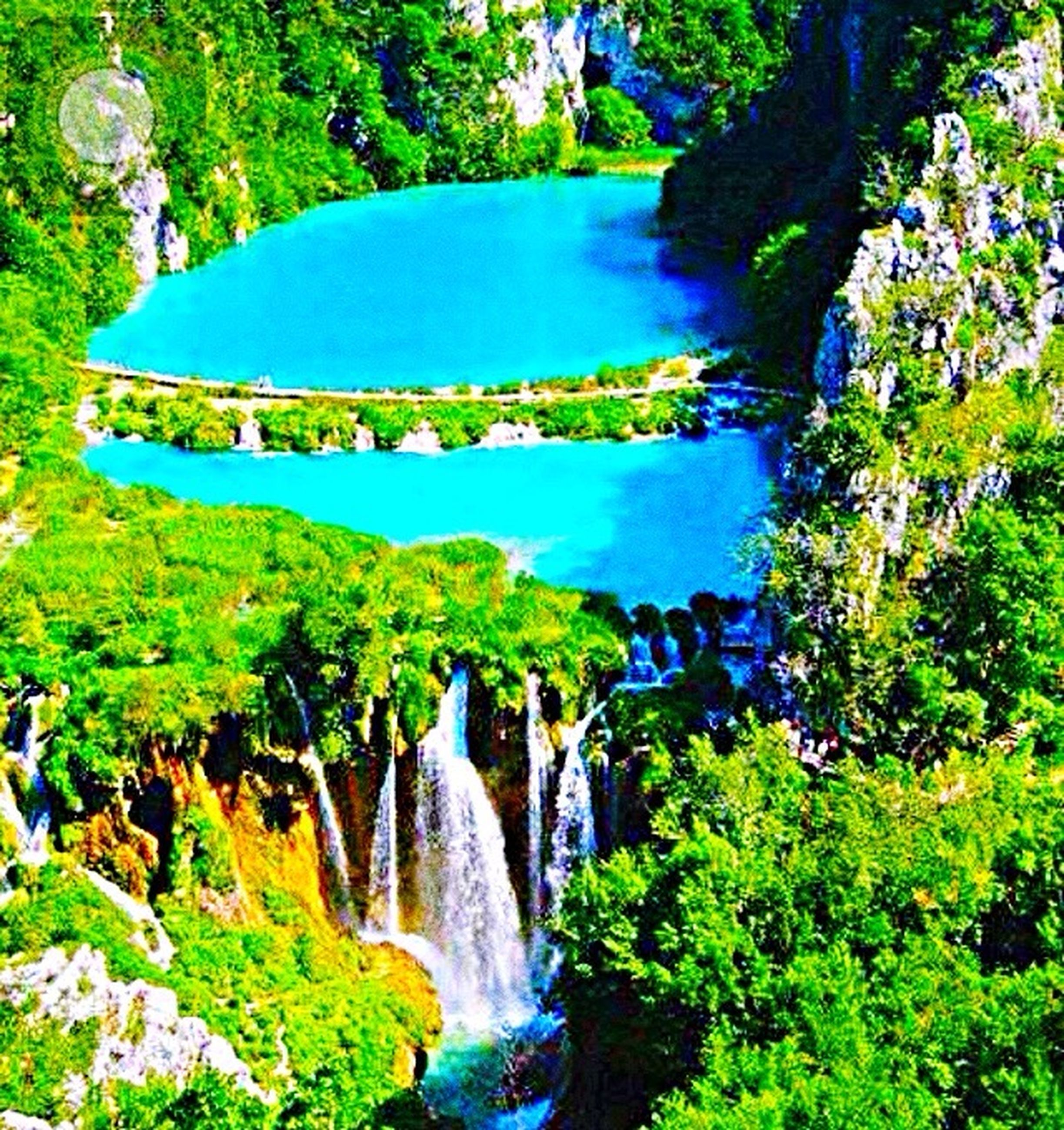 water, waterfall, motion, scenics, flowing water, flowing, tree, rock - object, stream, beauty in nature, nature, green color, tranquil scene, day, formal garden, growth, green, non-urban scene, outdoors, lush foliage, tranquility, falling water, no people, power in nature, rock formation