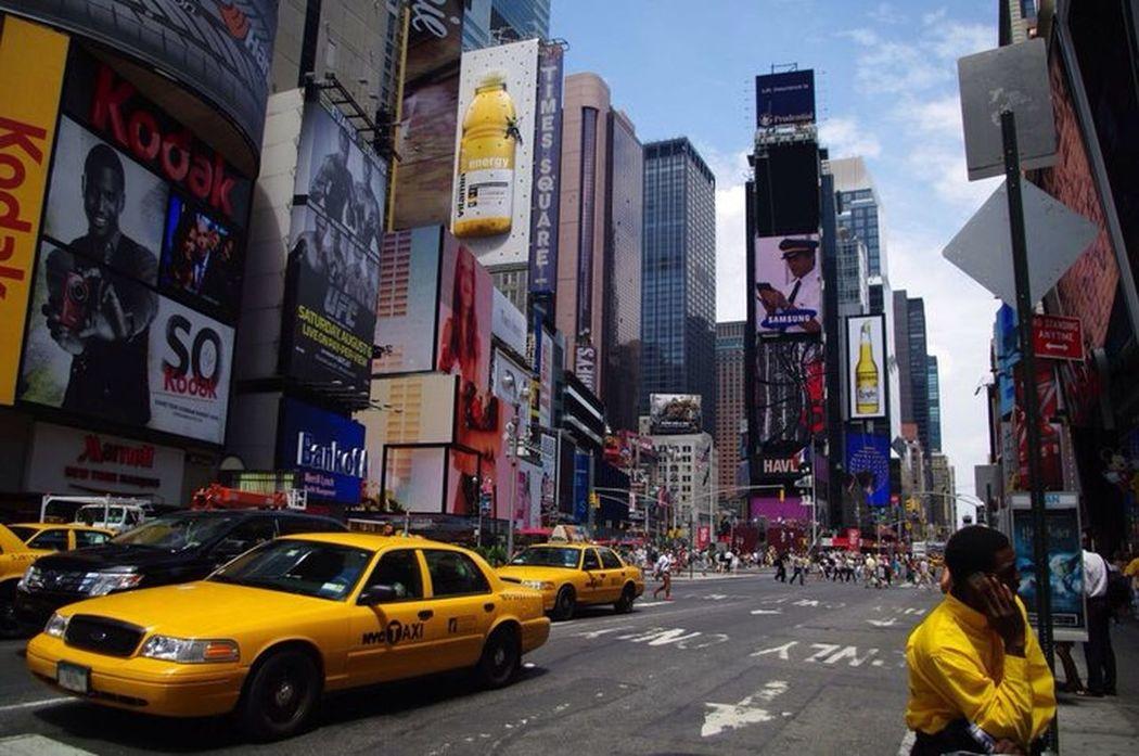 Perfect Match Jaune Yellow New York NYC CAB Time Square, New York