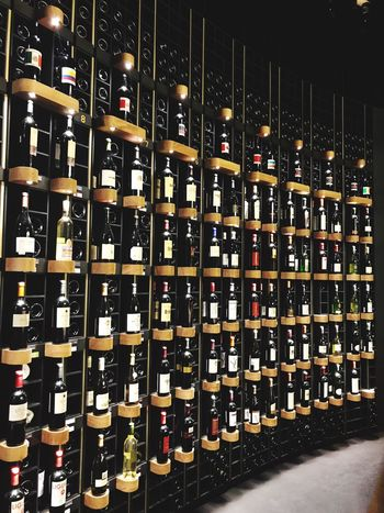 Wine Bottle Bottle Large Group Of Objects In A Row Shelf Wine Abundance Alcohol Arrangement Wine Rack Collection Indoors  Wine Cellar Drink Variation Food And Drink Stack No People Warehouse Cellar