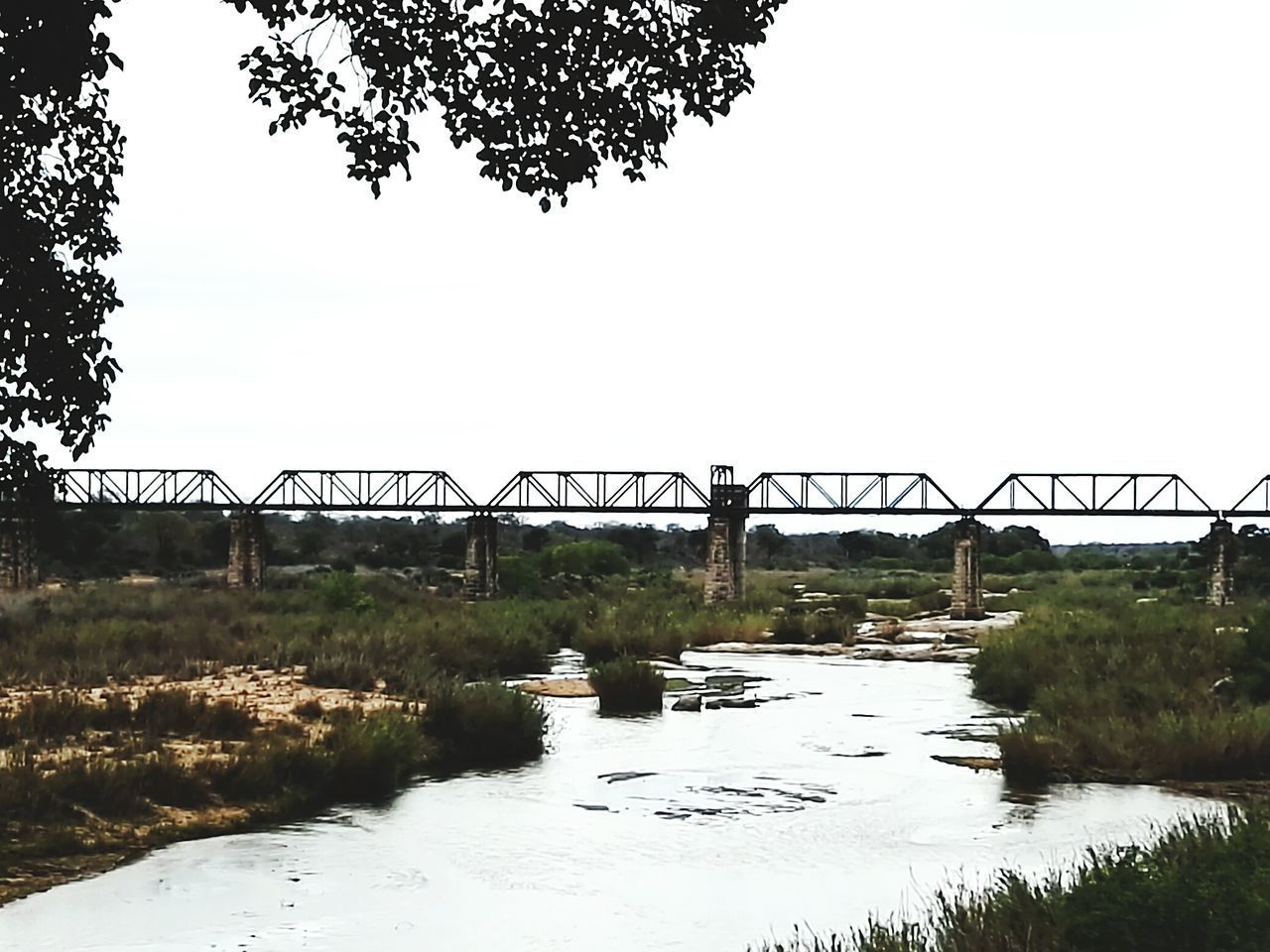 Water Bridge - Man Made Structure Architecture Outdoors Built Structure No People Sky Day Tranquil Scene Kruger National Park, South Africa Africa Outdoors❤ Nature Followme Travel Destinations Southafrika Krugerpark Architecture Southafrica Unique