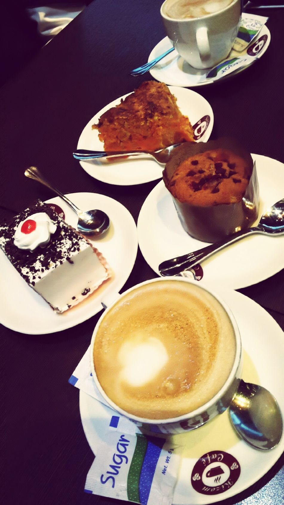 Coffee At Home Two People Coffee And Cake