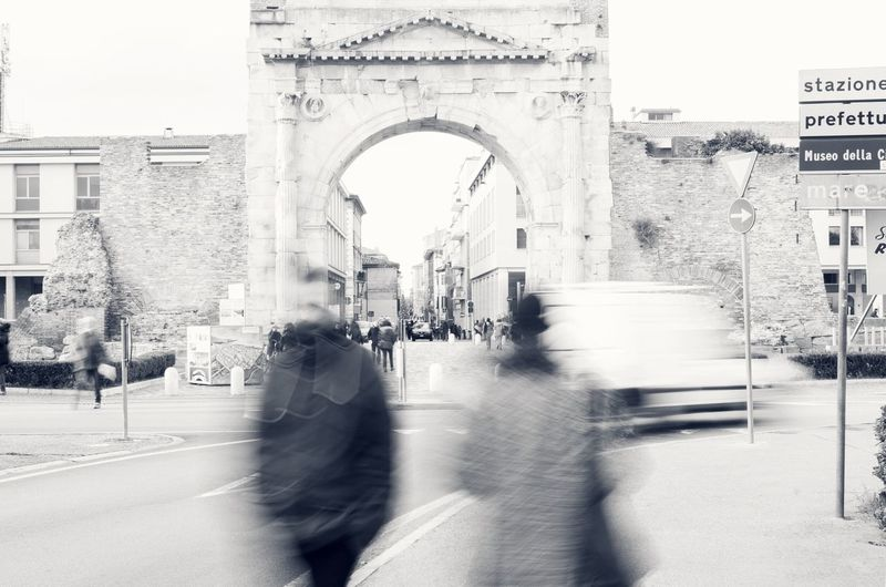Arco Di AugustoRimini Person Mir-67 B/n First Eyeem Photo Italy❤️ Rimini Blackandwhite