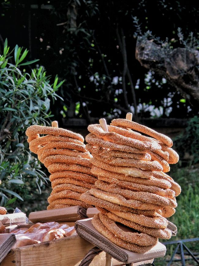 Athens, Greece Athens Street Photography Streetphotography Breadsticks Koulouria Street Seller Breads Tasty