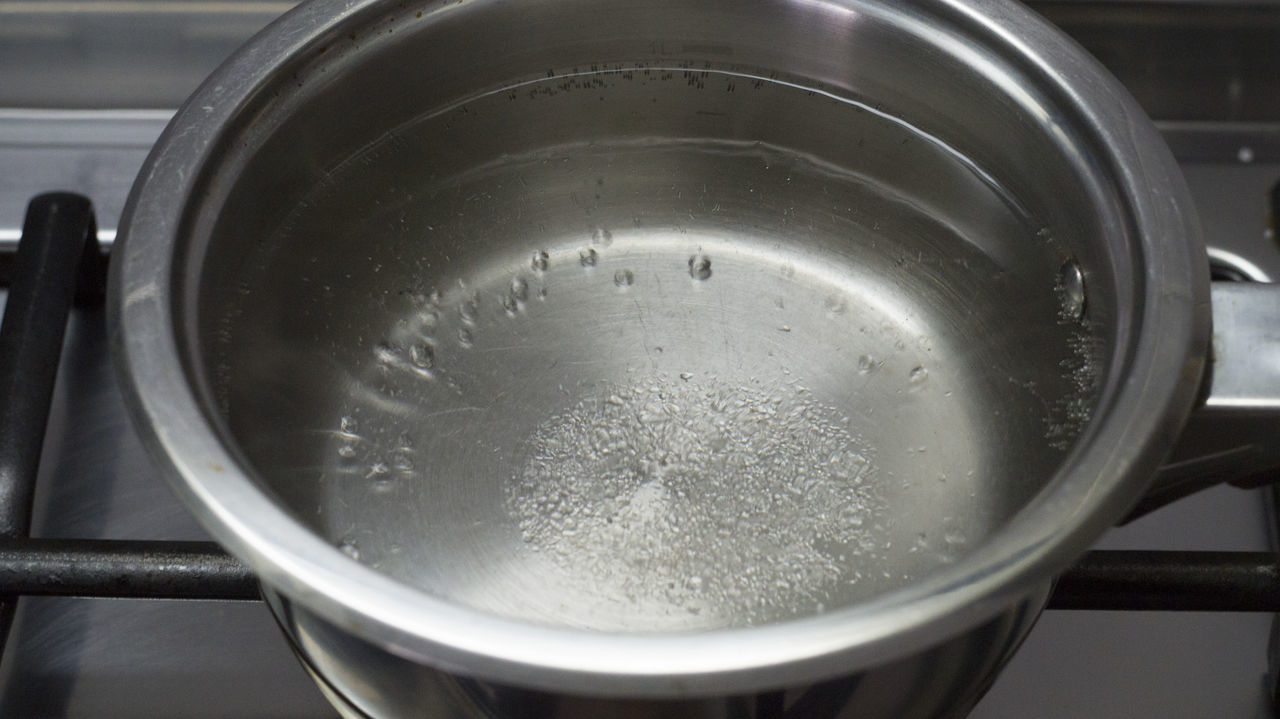 Boil Bubble Close-up Colander Day Indoors  Metal Metal Pot No People Pot Pot With Water Water