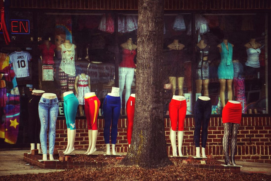 She's got the look Mini Skirt Fashion Street Fashion Style Streetphotography The Street Photographer - 2015 EyeEm Awards On The Road Ladies Mannequin Mannequin Attack!