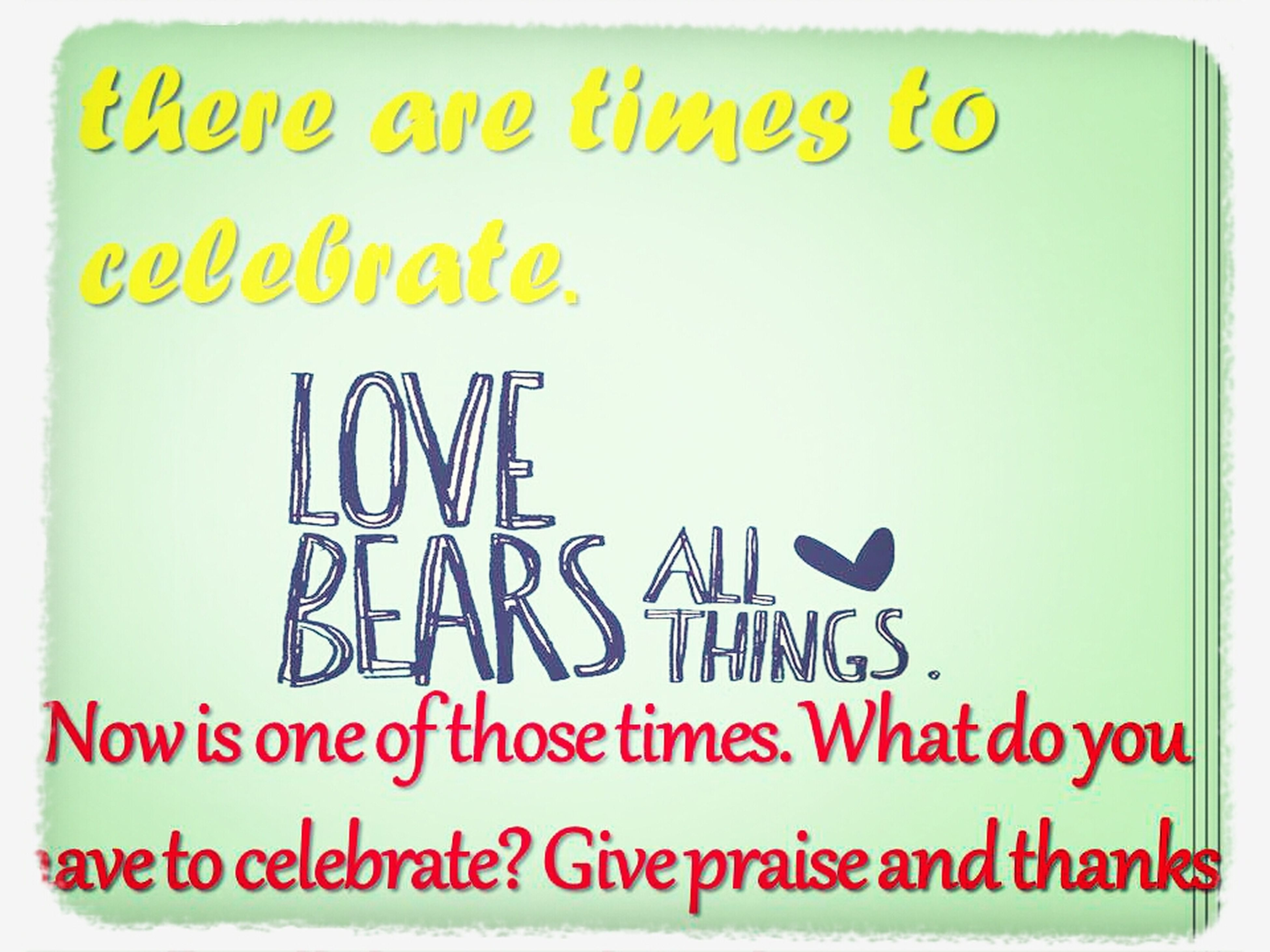 There are times to celebrate.... AlwaysGiveThanks