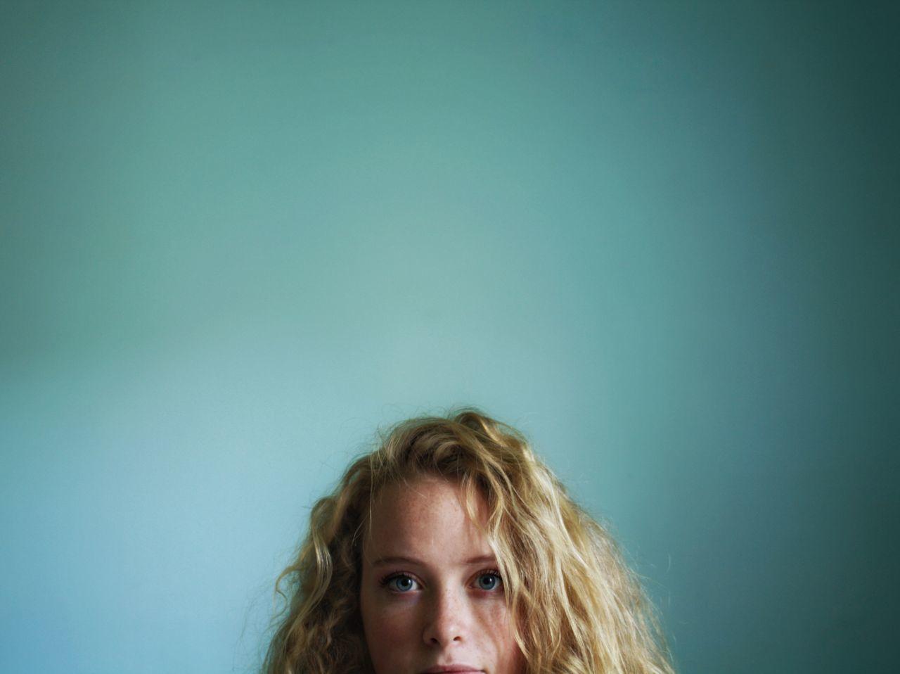 Beautiful stock photos of portrait, 18-19 Years, Beautiful Woman, Blond Hair, Blue