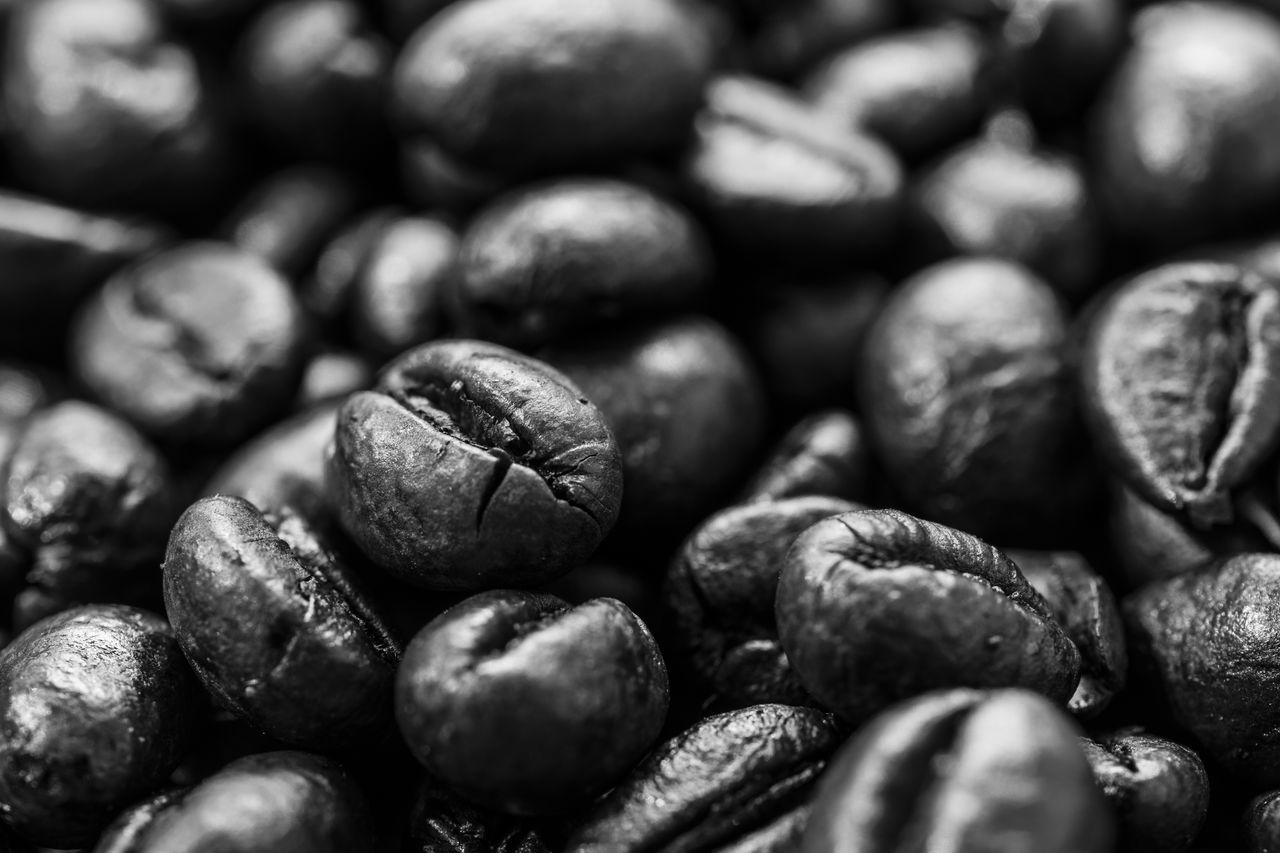 food and drink, still life, food, coffee bean, backgrounds, raw coffee bean, close-up, full frame, healthy eating, no people, freshness, abundance, group of objects, large group of objects, nut - food, indoors, day