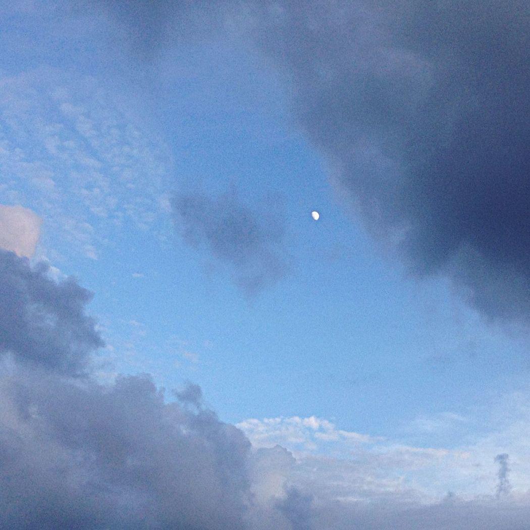 Luna Cielo Nubes Paisaje ☁️?