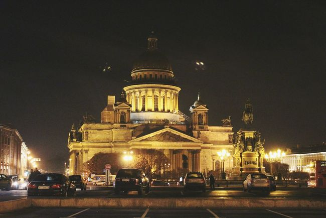 Night Illuminated Architecture City Building Exterior Built Structure Travel Destinations No People Sky Gold Colored Outdoors Cultures Stpetersburg Russia Theatre Summer Travel Silence