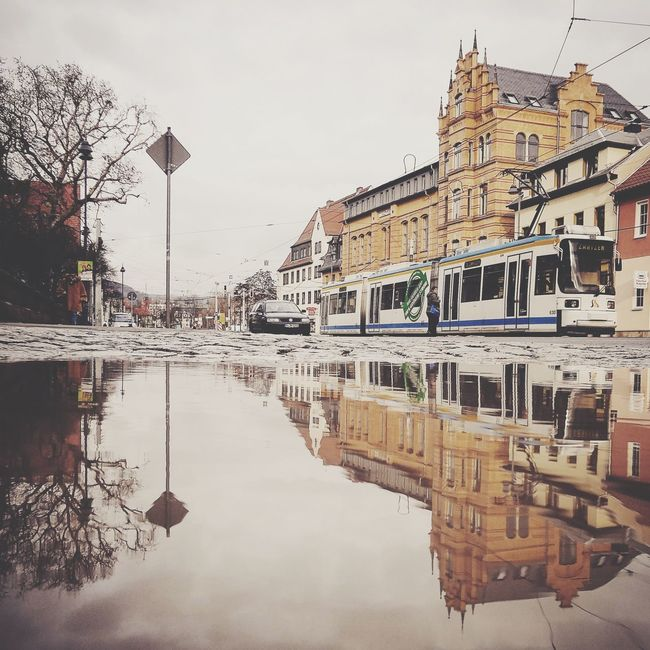 Puddleography Puddle Puddlegram Showcase: December Jena Tram Spotted Reflection Water Reflections