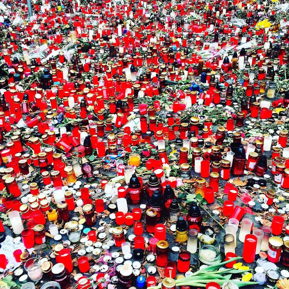 French Embassy France Paris Inmemoriam Prague Candle Sea Of Candles Je Suis Paris Je Suis Charlie No People Empathy
