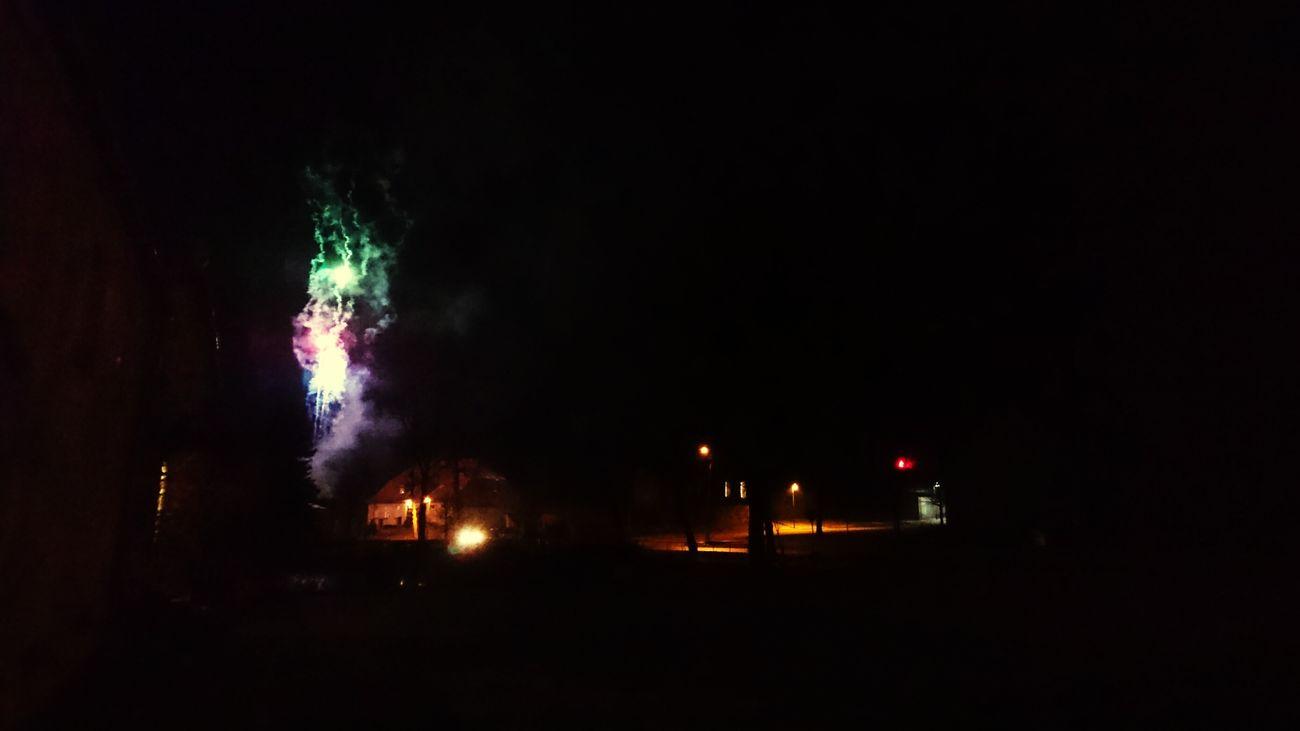 Night Sylvester Feuerwerk