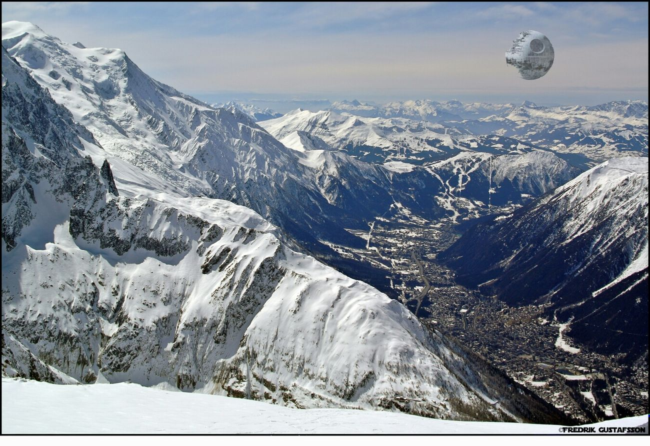 Ooo...shit! Chamonix-Mont-Blanc Starwars Death Star
