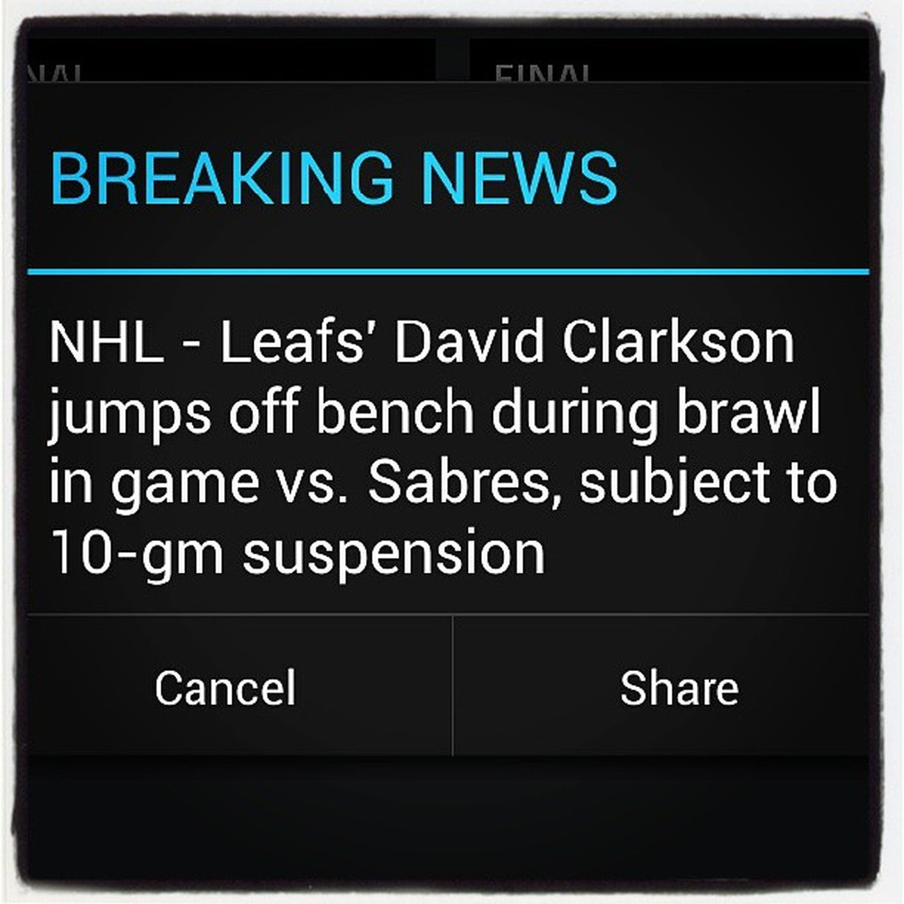 Clarkson DUMBASS NHL Stupid