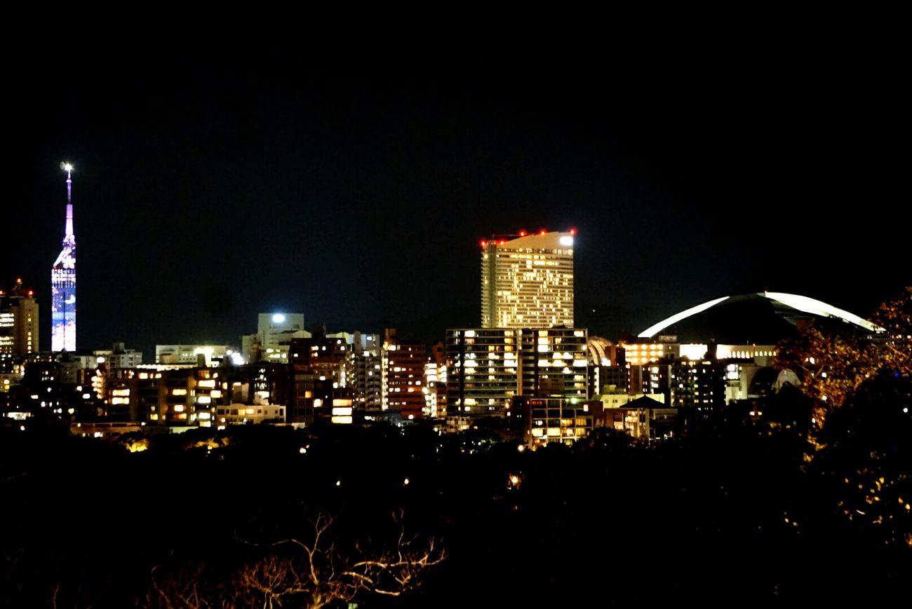 Fukuoka-shi Fukuoka Tower Dome Night View Nightphotography Night Lights Looking At Camera Eyemphotography Nightlife