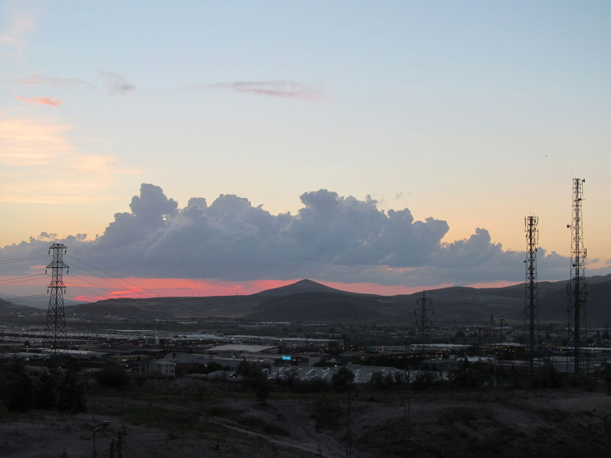 Sunset Sunset_collection Sky Sky And Clouds Clouds Clouds And Sky Pole Town Orange Sky Red Sky Canon Powershot Sx150 IS